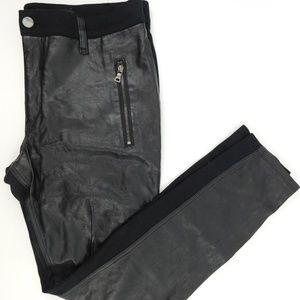 DKNY Faux Leather Leggings Size 10
